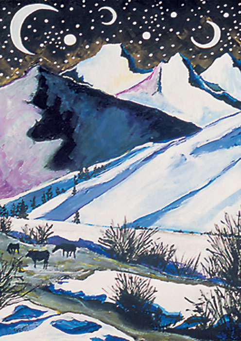 Fish Creek Mountain Winter Solstice Holiday card