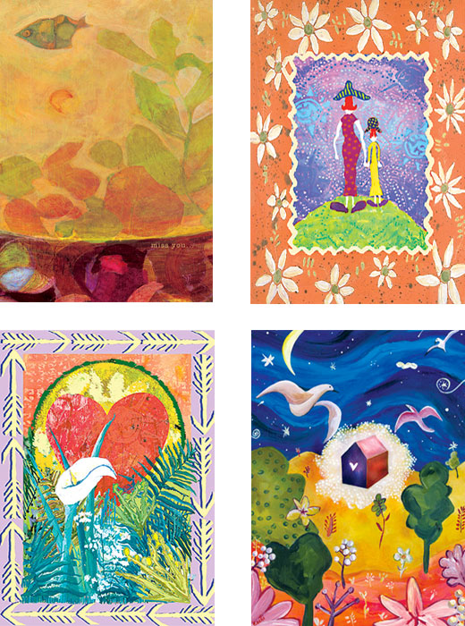 mixed pack of mom's day, miss you, new arrival, sympathy, Recycled Art cards