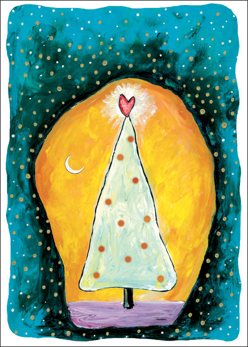 Renewal Happy Winter Solstice Christmas card