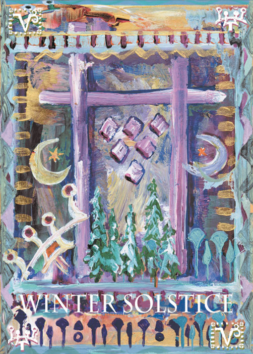 Winter Solstice Christmas Holiday cards by Miga Rossetti