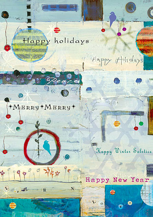 Winter Wishes Winter Solstice Christmas Holiday cards by Miga Rossetti