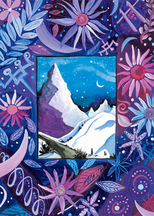 Eventide Mountain Happy Winter Solstice card