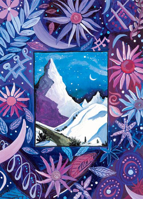 Eventide Mountain Happy Winter Solstice card
