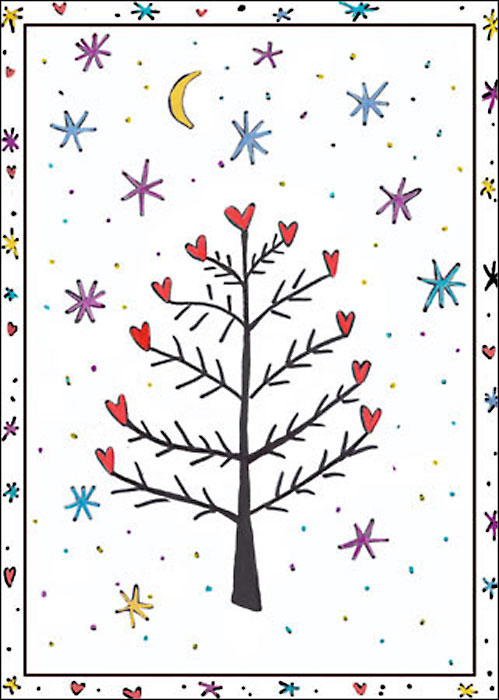 Rejoice Happy Winter Solstice Christmas Holiday card