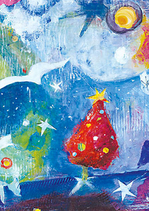 Solstice Sky Winter Solstice Christmas Holiday cards