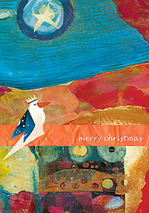 Transcend Merry Christmas cards by Miga Rossetti
