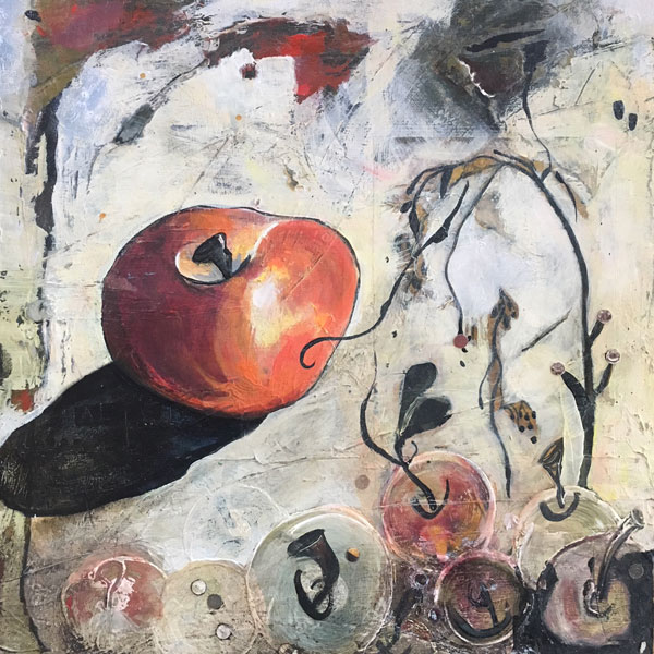 Apple of Eve painting by Miga Rossetti