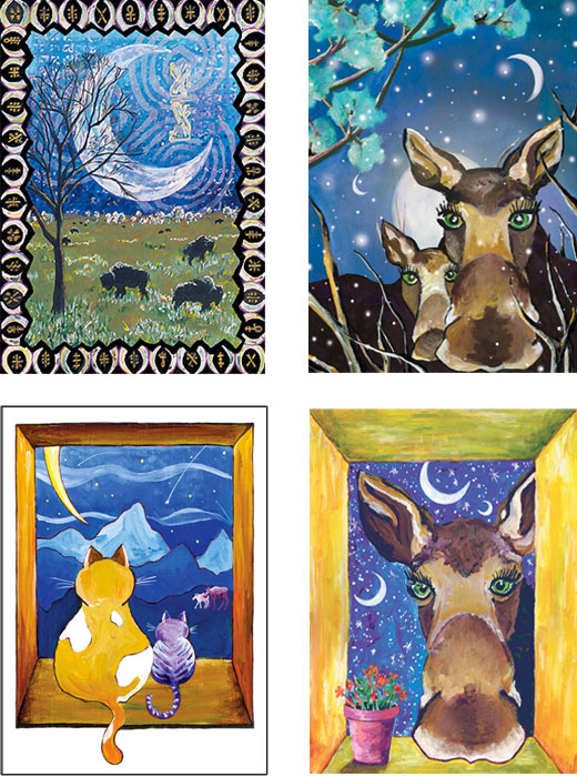 mixed pack of Moose cards from Wyoming
