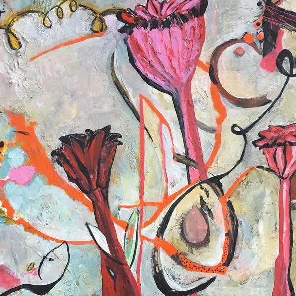 Poppies original art by miga rossetti