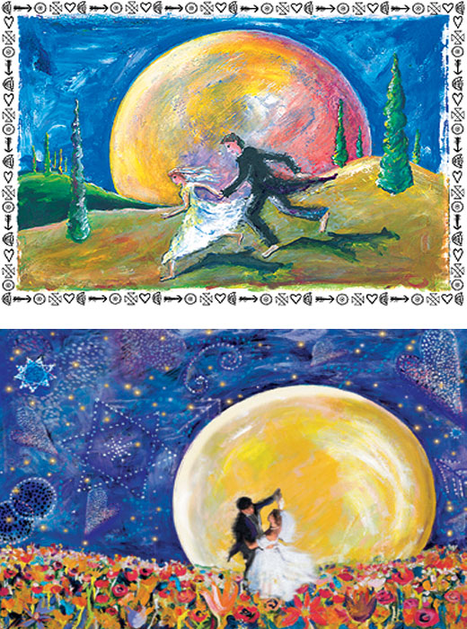 art wedding cards